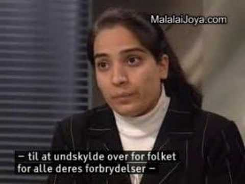 malalai joya in Denmark TV (Afghan woman)