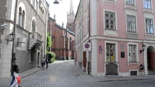 アキーラさん散策!ラトヴィア・リガ・旧市街・英国教会周辺,Riga,Latvia
