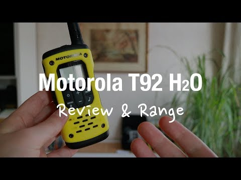 Motorola TLKR T92 H2o - Two Way Radio (Review And Range Test)