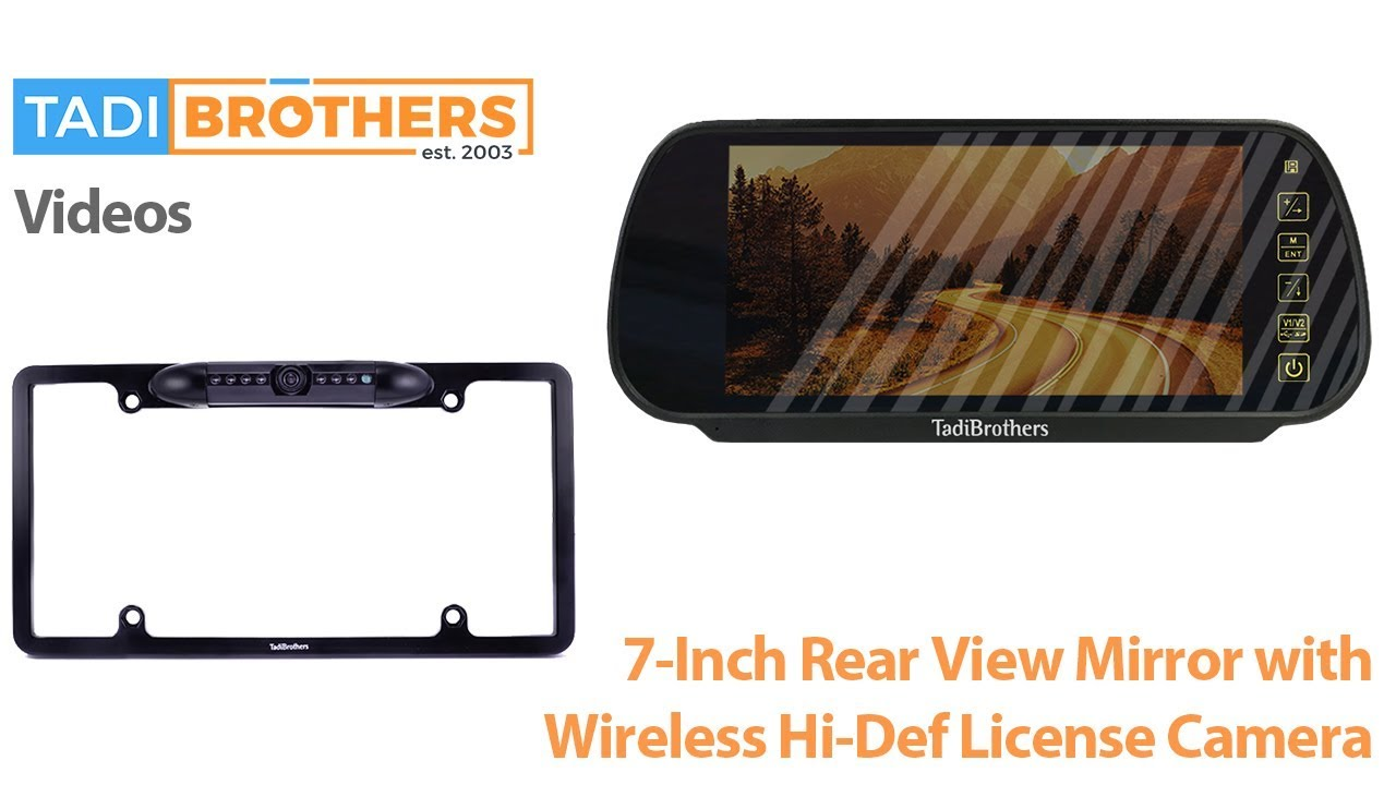 Wireless CCD License Plate Camera and Mirror Backup Camera System ...