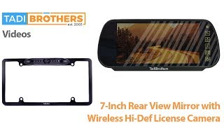 wireless ccd license plate camera and mirror backup camera system