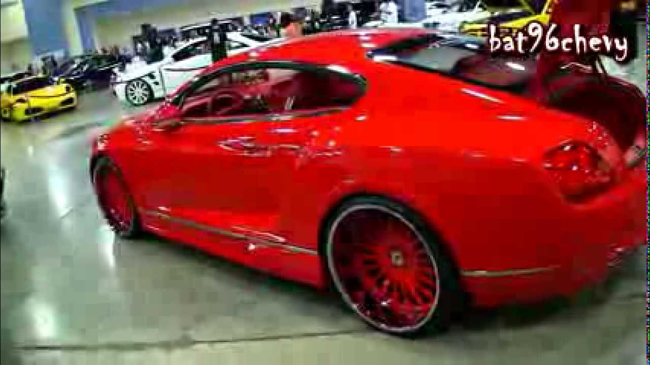 "ALL RED Bentley's Continental Coupe/Sedan on 24"" Forgiatos ..."