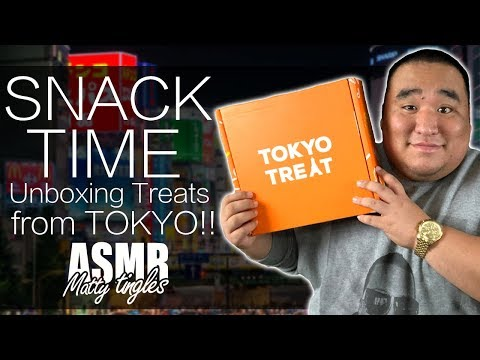 [ASMR] SNACK TIME - TokyoTreat Unboxing | MattyTingles