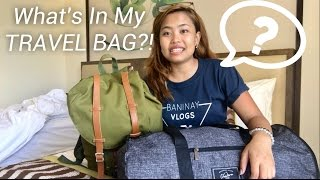 WHAT'S INSIDE MY TRAVEL BAG?