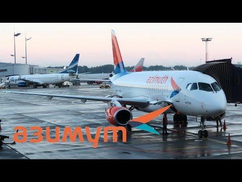 Перелёт Псков - Москва. Первый рейс а/к Азимут из Пскова (Superjet 100)