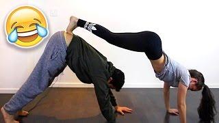 yoga challenge with girlfriend