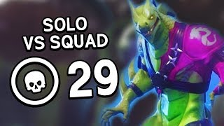 MAX HYBRID SKIN ALREADY!?! | 29 Bomb Season 8 Solo Squad | Fortnite Battle Royale