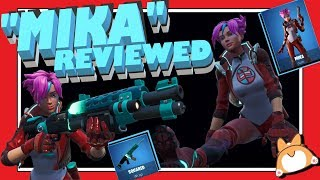 "Complete Honest Review: Fortnite ""MIKA"" Skin + ""SQUARED"" Wrap + COMBOS /NEW"