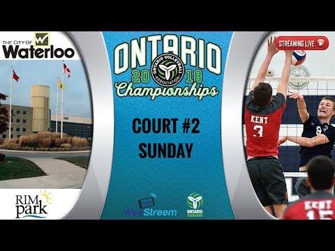 18U Boys/Girls COURT 2 SUNDAY - 2018 ONTARIO CHAMPIONSHIP