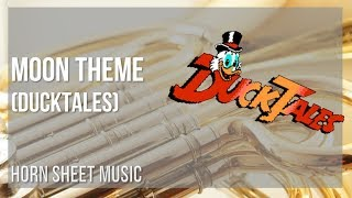 EASY Horn Sheet Music: How to play Moon Theme (Ducktales) by Yoshihiro Sakaguchi