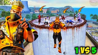 🔥WINNING SPIRIT BUNDLE Factory Roof Unstoppable Fight/🔥 Factory Roof 1Vs5 Gameplay/🔥FF ANTARYAMI