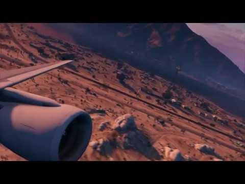 Full Flight | United A320 | GTA V | Sandy Shores to Fort Zancudo Intl.