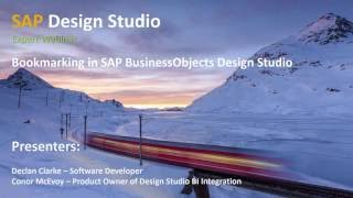 Bookmarking in SAP BusinessObjects Design Studio