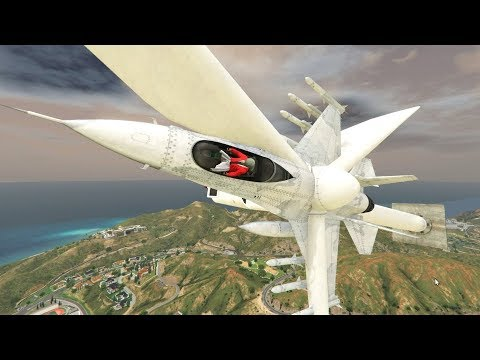 MODDED WINDMILL JET! - GTA 5 Funny Moments #722