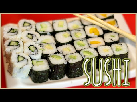 SUSHI - Maki & Inside Out - Veganes Rezept - Einfach & Super Lecker