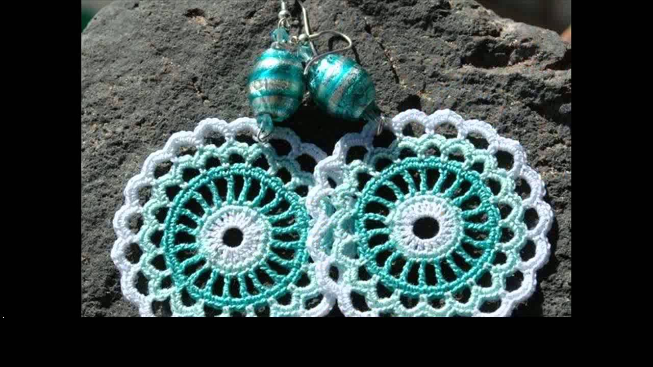 Free Crochet Earrings Tutorial Youtube