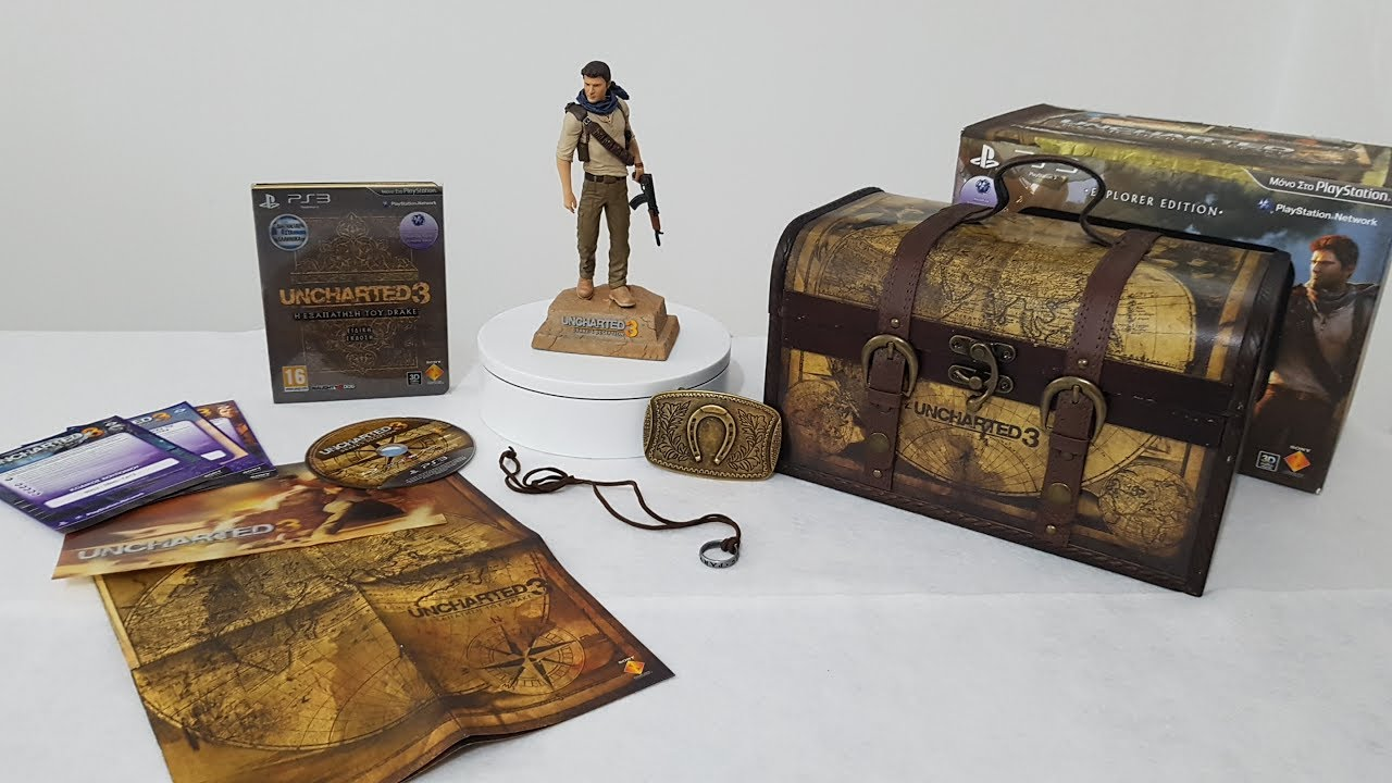 Uncharted 3 Drake S Deception Explorers Edition Ps3 Unboxing Youtube