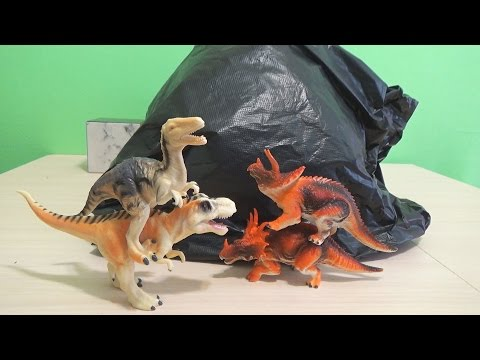 Динозавры игрушки динозавры огромный Киндер Сюрприз.Мультик динозавры.Dinosaurs toys Kinder Surprise