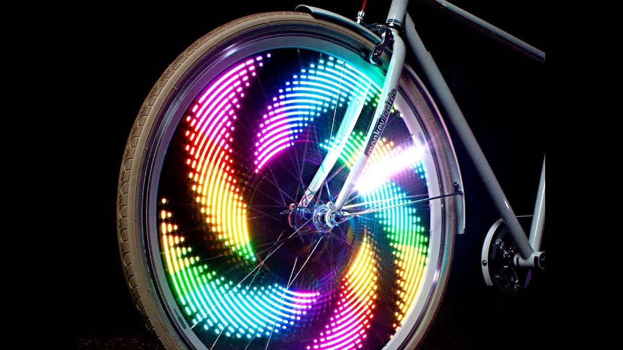 32 LED Patterns Bicycle Wheel Rim Lights Cycling Bikes Rainbow Signal Tire Spoke