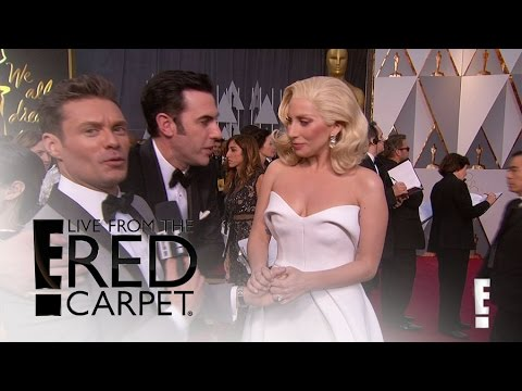 Sacha Baron Cohen Shocks Lady Gaga & Ryan Seacrest  Live from the Red Carpet  E!