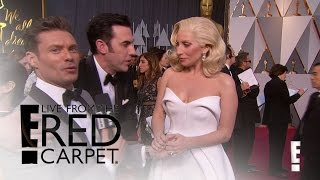 Sacha Baron Cohen Shocks Lady Gaga & Ryan Seacrest | Live from the Red Carpet | E! News Video