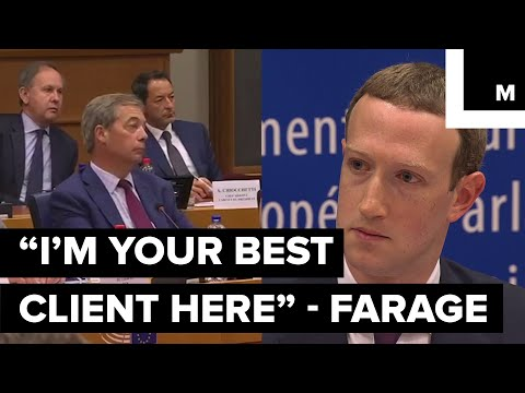 Zuckerberg's Face Froze After a Far-right Politician Credited Him for Trump's Win and Brexit