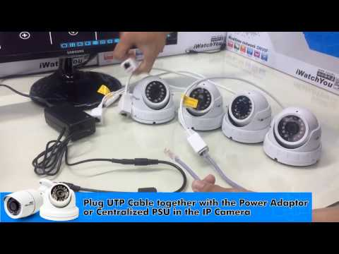 How to install CCTV IP Camera using network switch hub (iWatchYou CCTV)