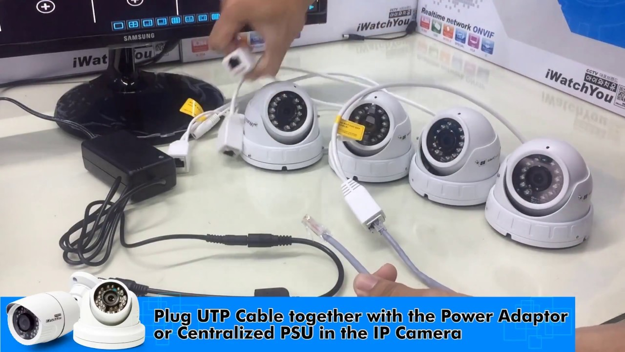 how to install cctv ip camera using network switch hub iwatchyou cctv  [ 1280 x 720 Pixel ]