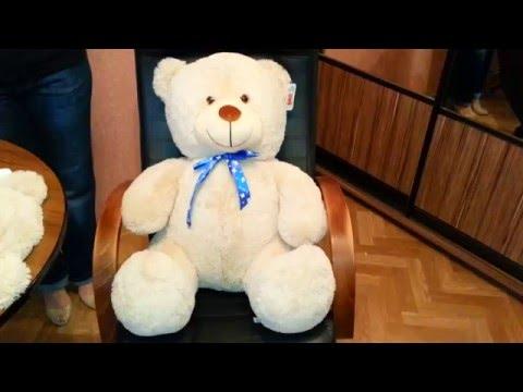 Как правильно измерятся большой плюшевый медведь
