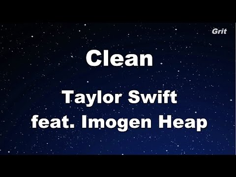 Clean - Taylor Swift Karaoke【No Guide Melody】