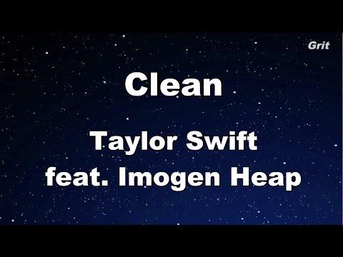 Clean - Taylor Swift Karaoke【No Guide Melody】