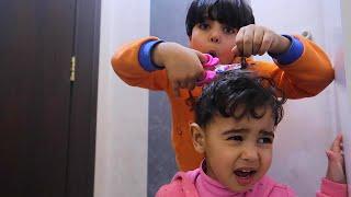 زياد قص شعر ميمي, وميمي هاوشته !!!