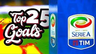 TOP 25 GOALS - Serie A 2017/18