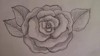КАК НАРИСОВАТЬ ЦВЕТОК. РАСПУСТИВШУЮСЯ РОЗУ(очень просто, для начинающих)(Здравствуйте! Предлагаю вашему вниманию видеоролик, где я показываю, как очень просто нарисовать цветок..., 2015-03-14T22:48:53.000Z)