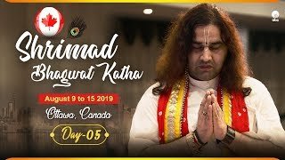 Shrimad Bhagwat Katha || 09 To 15 August 2019 || Day 5 || Ottawa, Canada  || THAKUR JI MAHARAJ