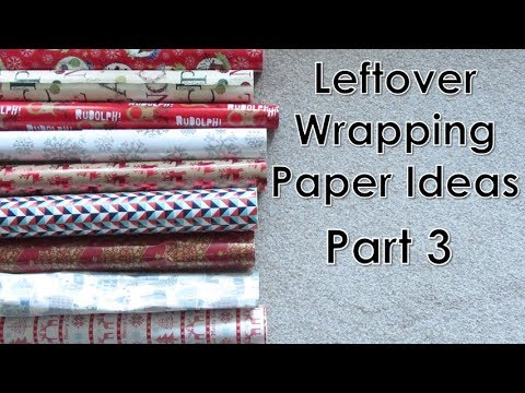 Crafts for Leftover Christmas Wrapping Paper (Part 3) | D.I.Y.