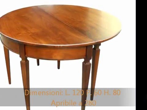 Tavolo Consolle Mezzaluna Allungabile.Produzione Di Tavoli A Consolle Allungabili In Stile Antico