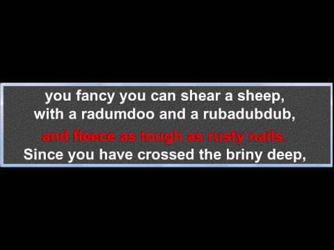 Lime Juice Tub (Australian traditional) karaoke, melody and lyrics
