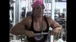 FBB   Sarah Hayes in the gym  Bodybuilding workout