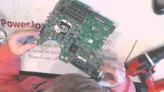How to repair a broken Dell Latitude e5410 dc power jack socket input port on laptop