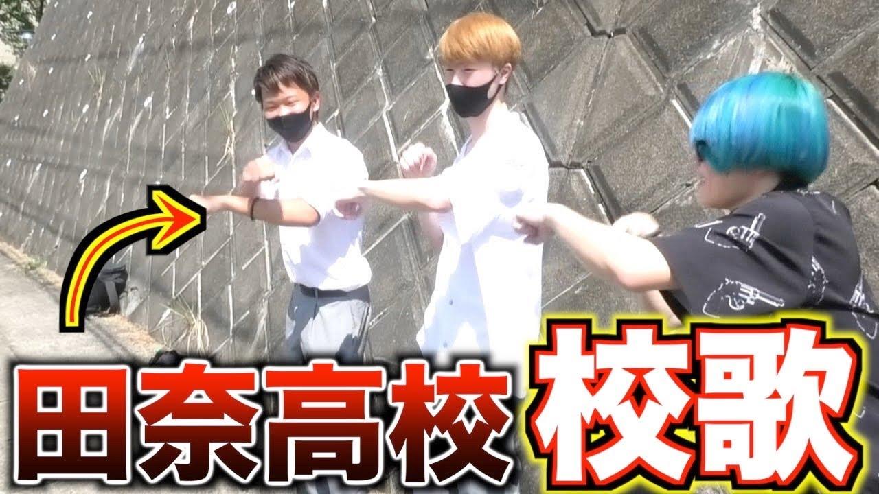 田奈高校のヤンキーにTikTokの音楽流したら本当に踊れるのかwww 【校歌】