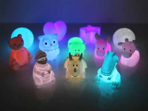 캠팜 인테리어용 RGB LED 캐릭터조명 - YouTube