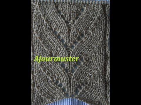 Ajourmuster Blättermuster 02* Stricken*Muster Für Pullover*Mütze*Tutorial Handarbeit