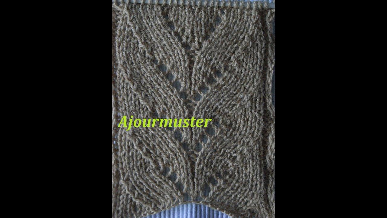 ajourmuster bl ttermuster 02 stricken muster f r pullover. Black Bedroom Furniture Sets. Home Design Ideas