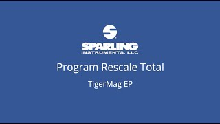 How To     TigerMag EP - Rescale Total