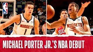 Michael Porter Jr. Makes NBA Debut!