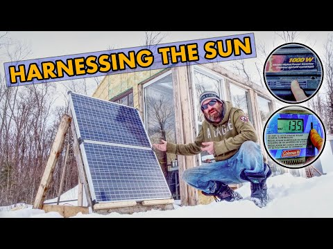 Solar Power In Our Greenhouse | An Off Grid Winter Garden Greenhouse in Canada For Year Round Food