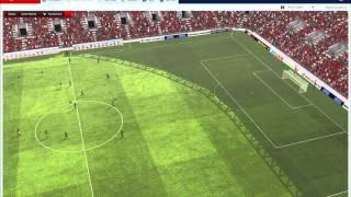 Football Manager 2011 Gameplay Man utd vs Arsenal Friendly, Diffrent camera angles.wmv