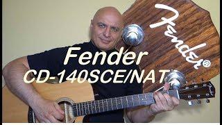 Fender CD-140SCE/NAT Fishman Presys- few simple chords test.