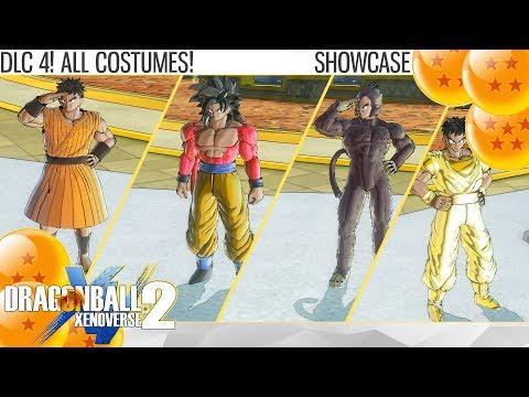 (2K) Dragon Ball Xenoverse 2 - DLC 4! All Costume! Do Tails Move? (Showcase)
